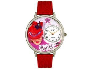Red Hat Madam Red Leather And Silvertone Watch #U0470005