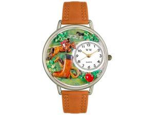 Horse Competition Tan Leather And Silvertone Watch #U0810020