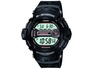 Casio Men's G-Shock GD200-1 Black Resin Quartz Watch with Black Dial