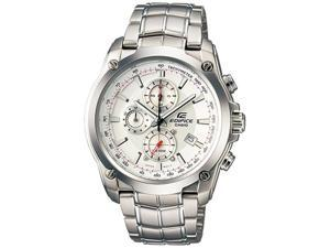 Casio Men's EF524D-7AV Silver Stainless-Steel Quartz Watch with White Dial