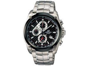 Casio Men's EF524SP-1AV Silver Stainless-Steel Quartz Watch with Black Dial