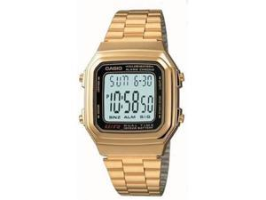 Casio A178WGA-1A Men's Grey Dial Gold Stainless Steel Quartz Watch