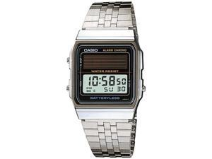 Casio Men's AL180MVV-1 Silver Stainless-Steel Quartz Watch with Grey Dial
