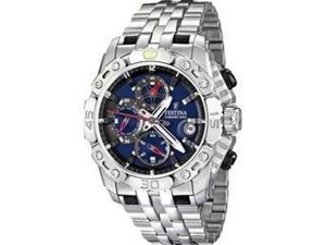 Festina Men's F16542/2 Silver Stainless-Steel Quartz Watch with Blue Dial