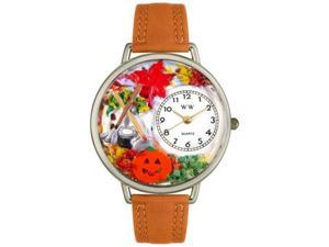 Autumn Leaves Tan Leather And Silvertone Watch #U1213001