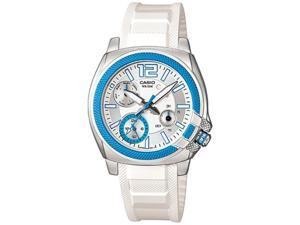 Casio Women's LTP1320B-2A1V White Resin Quartz Watch with Silver Dial