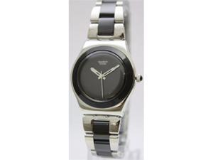 Swatch Black Ceramic Ladies Watch YLS168G