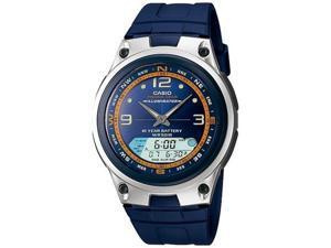 Casio Men's AW82-2AV Blue Resin Quartz Watch with Blue Dial