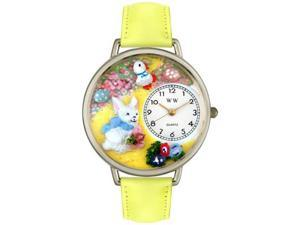 Easter Bunny Yellow Leather And Silvertone Watch #U1220015