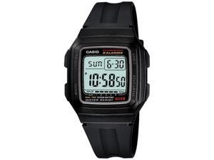 Casio F201WA-1AV Men's Dual Time Digital Sports Watch w/ 4 Multi-Function Alarms