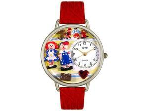 Raggedy Ann & Andy Navy Blue Leather And Silvertone Watch #U0220006