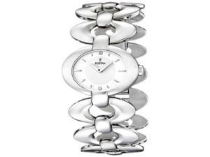 Festina Women's Dame F16547/1 Silver Stainless-Steel Quartz Watch with White Dial