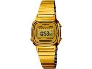 Casio Women's LA670WGA-9 Stainless-Steel Quartz Watch with Gold Dial