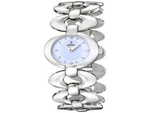 Festina Women's Dame F16547/2 Silver Stainless-Steel Quartz Watch with Blue Dial