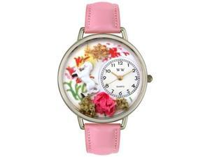 Unicorn Pink Leather And Silvertone Watch #U1610002