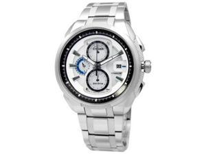 Citizen Men's Eco-Drive CA0201-51B Silver Stainless-Steel Eco-Drive Watch with White Dial