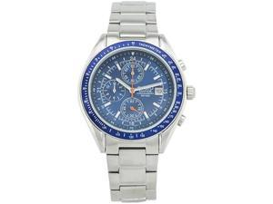 Casio Men's Edifice EF503D-2AV Silver Stainless-Steel Quartz Watch with Blue Dial