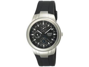 Casio Men's EF305D-1AV Black Resin Quartz Watch with Black Dial