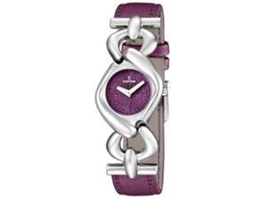 Festina Women's Dame F16545/3 Purple Leather Quartz Watch with Purple Dial
