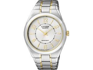 Citizen Men's BI0954-50A Silver Stainless-Steel Quartz Watch with Silver Dial