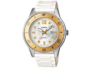 Casio Women's LTP1330-9AV White Resin Quartz Watch with Silver Dial