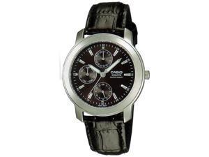 Casio Men's MTP1192E-1A Black Leather Quartz Watch with Black Dial