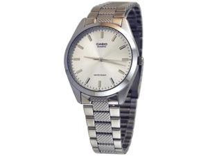 Casio Men's MTP1274D-7A Silver Stainless-Steel Quartz Watch with White Dial