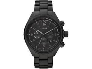 Fossil Unisex CH2803 Black Stainless-Steel Analog Quartz Watch with Black Dial