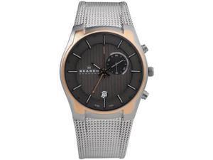 Skagen GMT/Alarm & Rose-gold Accents Grey Dial Men's watch #853XLSRM