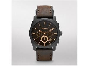 Fossil Men's FS4656 Brown Leather Analog Quartz Watch with Brown Dial