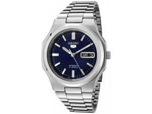 Seiko Men's 5 Automatic SNKK45K Silver Stainless-Steel Automatic Watch with Blue Dial