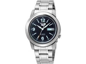 Seiko Men's 5 Automatic SNKK61K Silver Stainless-Steel Automatic Watch with Blue Dial