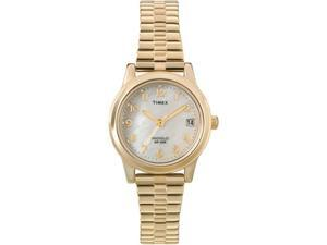 Timex Women's T2M827 Gold Stainless-Steel Quartz Watch with Mother-Of-Pearl Dial