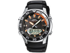 Casio Men's AMW710-1AV Black Resin Quartz Watch with Black Dial