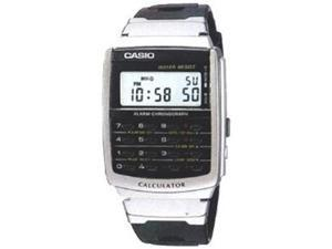 Casio Men's CA56-1 Silver Stainless-Steel Quartz Watch with Digital Dial
