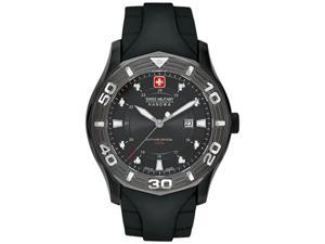 Swiss Military Hanowa Men's Oceanic 06-4170-13-007 Black Rubber Swiss Quartz Watch with Black Dial