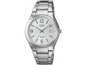 Casio Women's MTP1265D-7AV Silver Stainless-Steel Quartz Watch with White Dial