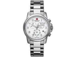 Swiss Military Hanowa Men's Swiss Soldier 06-5142-04-001 Silver Stainless-Steel Swiss Quartz Watch with White Dial
