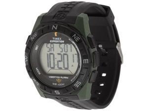 Timex Men's Expedition T49852 Black Resin Quartz Watch with Digital Dial