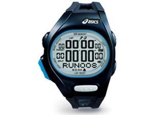 Asics Unisex Race CQAR0202 Black Polyurethane Quartz Watch with Silver Dial