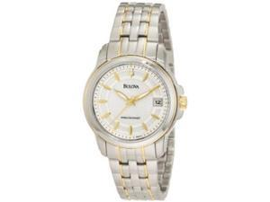Bulova 98M112 Women's Precisionist TT Gold Plated SS MOP Dial Watch
