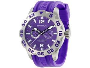 Nautica Men's N16609G Purple Resin Quartz Watch with Purple Dial