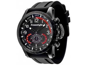 Freestyle Men's Aviator 101208 Black Silicone Quartz Watch with Black Dial