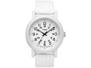 Timex Women's Camper T2N718 White Resin Quartz Watch with White Dial