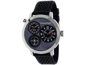 Freestyle Men's Passage 101163 Black Silicone Analog Quartz Watch with Black Dial