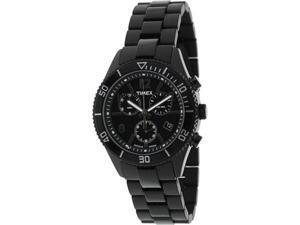 Timex Men's Chronograph T2N865 Black Resin Quartz Watch with Black Dial