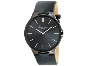 Kenneth Cole Men's KC1885 Black Calf Skin Quartz Watch with Black Dial