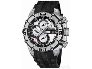 Festina Men's Tour De France F16600/1 Black Rubber Quartz Watch with White Dial