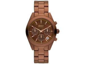 DKNY Women's NY8583 Brown Stainless-Steel Quartz Watch with Brown Dial