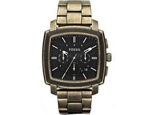 Fossil Men's Machine JR1399 Gold Stainless-Steel Analog Quartz Watch with Black Dial